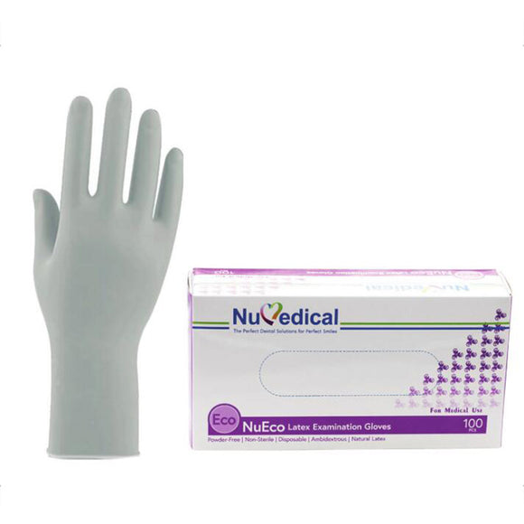 NUECO LATEX EXAM GLOVES POWDER FREE, 100PCS/BOX, 990019-990022