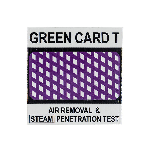 Green Card T, Bowie Dick Test 15pcs, 990643