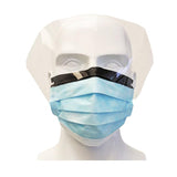 Brand of SplusPro, 3-Ply Level 2 Medical Mask w/Visor & Anti-Fog, 25pcs/box, 992286