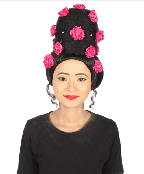 A girl wearing Janelle Monae's PYNK Wig
