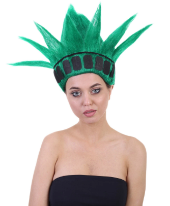 A girl wearing NYC Statue of Liberty
