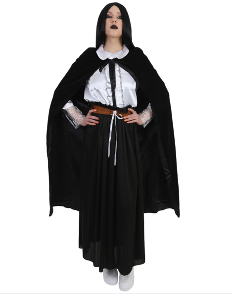 A Woman Wearing Witch Costume