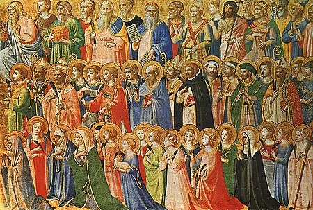 All Saints' Day ancient painting