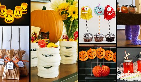 Different kind of decoration materials for halloween party