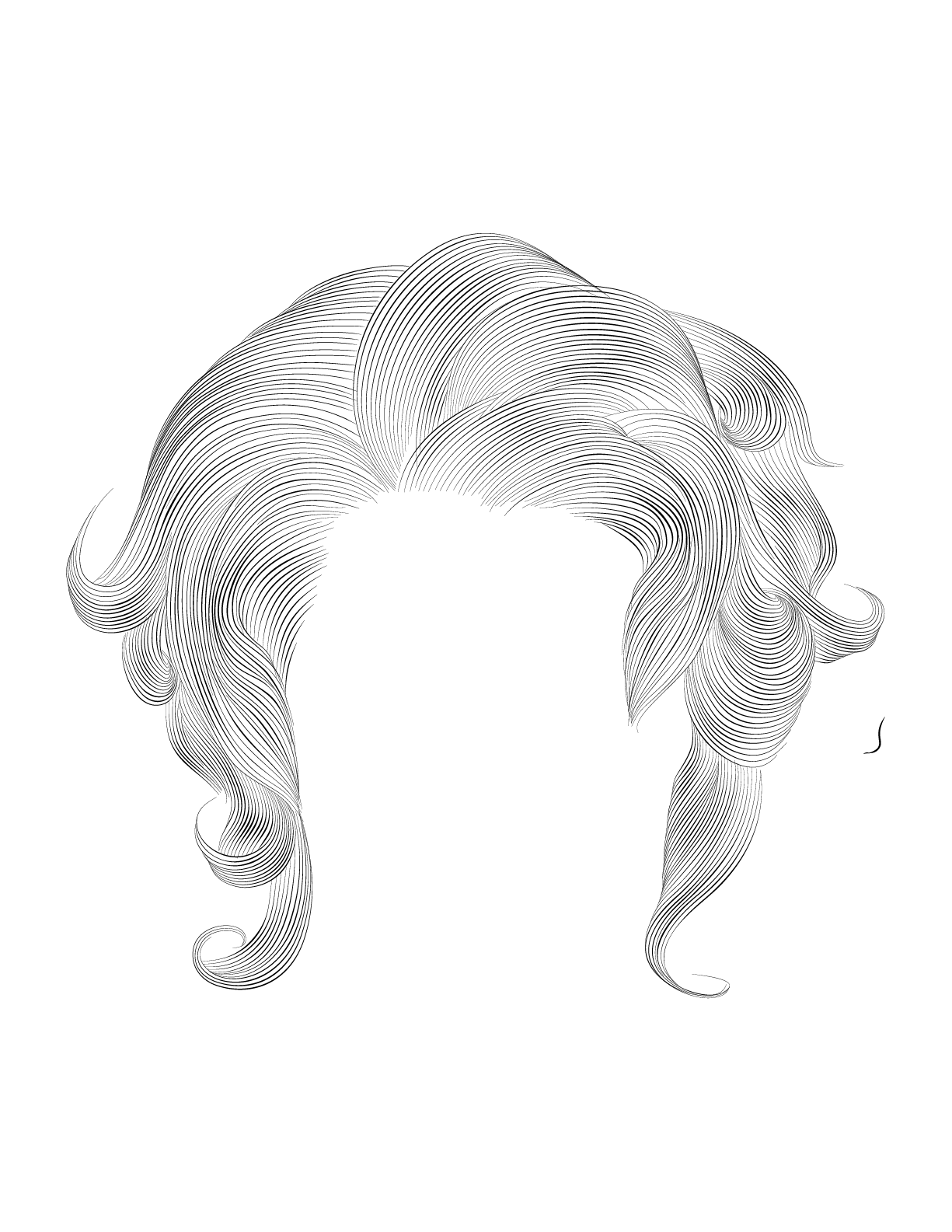 Contestant Girls Hair Style Sketch