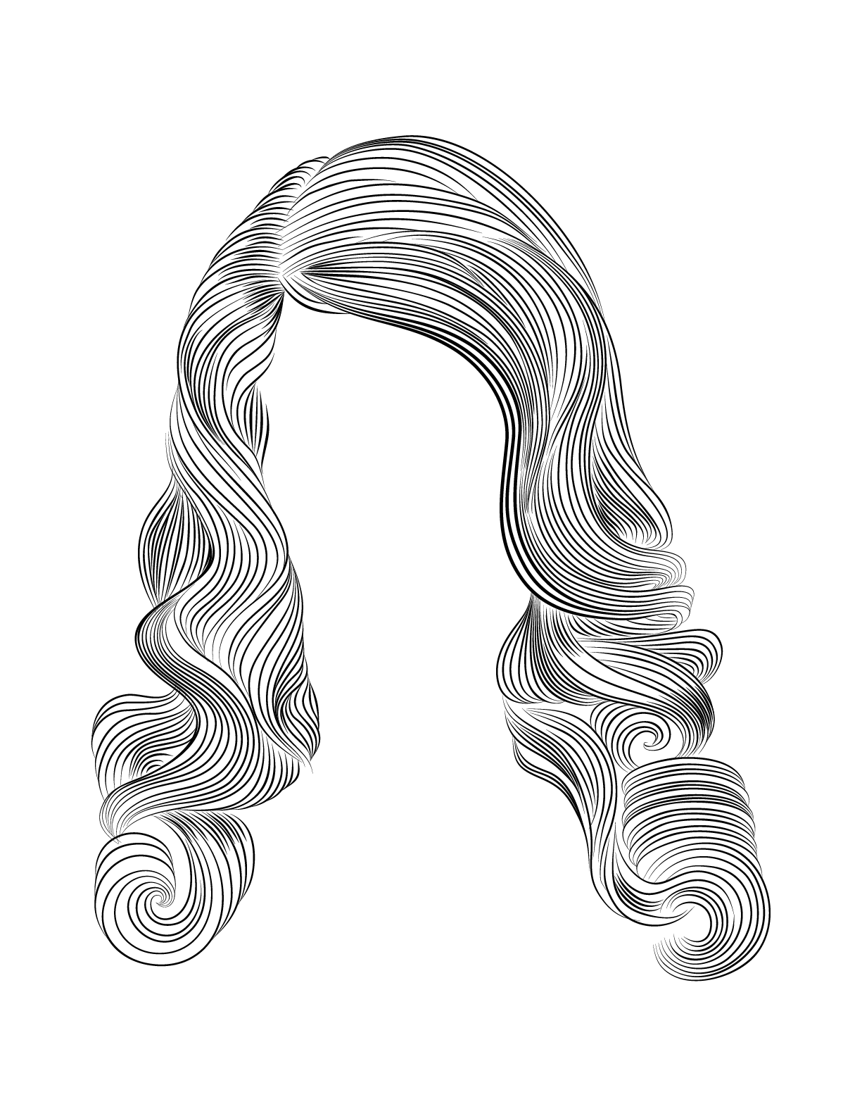 Curly Hair Drawing Photo