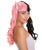 Lace Split Dye Pigtails in Light Pink and black with Pink Ribbons - Adult Fashion Wig | Nunique