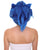 "Nunique Adult Men's 11"" In. Spiked Anime Hedgehog Wig - Short Length Spiked Lightning Blue Hair With Ears"