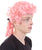 Colonial Pink Curly Wigs Side View
