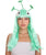 Alien Wig with Antenna - Halloween Wigs | HPO