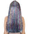 Women's Long Rainbow Tinsel Wig with Silver Bangs - Halloween Wigs | HPO