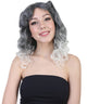 Vivien - Women's Silver and White Ombre Casual Marcel Curls -  Adult Halloween Wigs | HPO