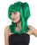 Dolly Pigtail Green Wig with Bangs