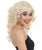 Women's Long Blonde Curly Wig with Bangs - Adult Halloween Wigs | HPO