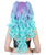Women's High Half Up Rave Pigtails with Multicolor Loose Curls - Adult Halloween Wigs | HPO