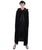 Black Velvety Hooded Costume Front View