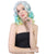 Singer Perry Wig | Silver Sky Yellow Magical Curly Wig | Premium Breathable Capless Cap