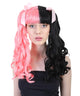 Women's Long Two Tone Curls with Pink Ribbons -  Halloween Wigs | HPO