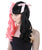 Melanie Ponytail Wig With Pink Ribbons