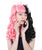 Women's Ponytail Wig with Two Tone Curls