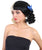 Women's Short Two Tone Ringlet Pigtails with Blue Ribbons and Bangs - Halloween Wigs | HPO