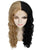 Annette - Women's Two Tone Lace front Curls with Heart Curled Bangs