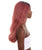 "Adult Women's 23"" In. Hair Stylist Inspired Wig - Long Length Red Hair with Dark Blue Roots - Lace Front Heat Resistant Fibers"