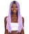 "Nunique Adult Women's 23"" In. Social Media Influencer Inspired Wig - Long Length Lilac Purple Hair with Dark Roots - Lace Front Heat Resistant Fibers"