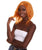 "Nunique Adult Women's 17"" In. American Singer and Rapper Inspired Wig - Shoulder Length Luminous Ginger Orange  Hair - Lace Front Heat Resistant Fibers"