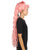 Women's Extra Long High Ponytail in Bubblegum Pink and Black Split Dye - Wavy Adult Lace Wig | Nunique