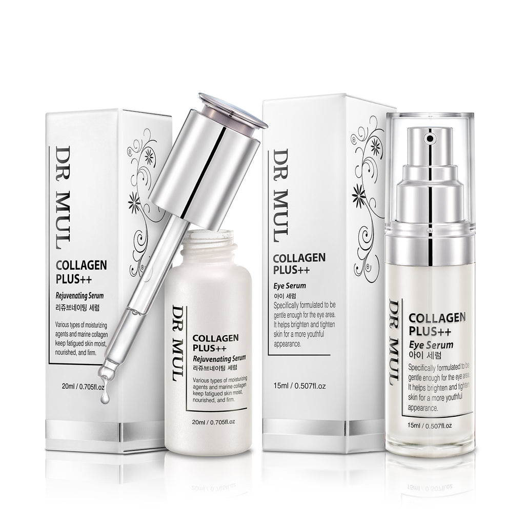 DR MUL 骨胶原 Plus ++ 7 FREE 面部及眼部精华素套装 Collagen Plus ++ 7 FREE Rejuvenating Serum & Eye Serum Package