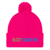 Blizzy Taught Me Embroidered Pom-Pom Beanie