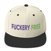 Fuckery Free Embroidered Snapback Hat