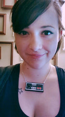 Classic NES Controller - Laser Cut Stacked Acrylic Pendant Necklace