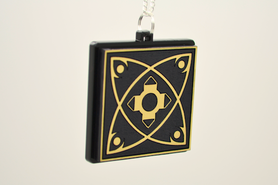 Diablo Horadric Cube Necklace - Laser Engraved Video Game Medallion