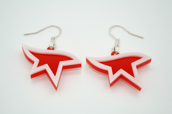 Mirror's Edge Logo Earrings- Laser Cut Acrylic Video Game Jewelry