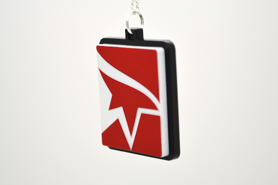 Laser Engraved Mirror's Edge Logo Medallion Necklace - Laser Cut Acrylic Videogame Jewelry