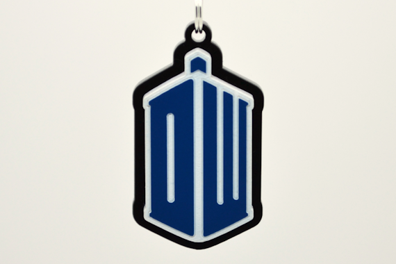 Doctor Who DW TARDIS Pendant Necklace - Laser Cut Acrylic Jewelry