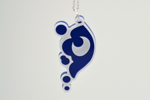 My Little Pony Luna Cutie Mark Necklace - Laser Cut Acrylic Cartoon Jewelry