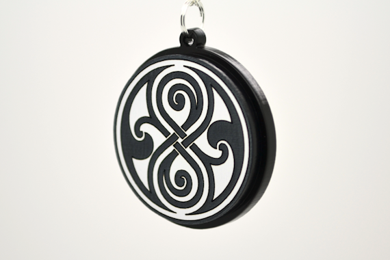 Dr. Who Seal of Rassilon Pendant Necklace Large - Laser Cut Acrylic Pendant Necklace