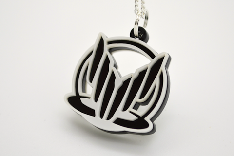 Mass Effect Spectre Pendant Necklace - Laser Cut Acrylic