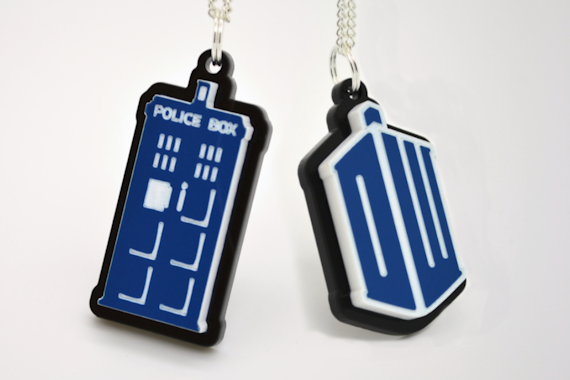 Dr. Who Seal of Rassilon Pendant Necklace Small - Laser Cut Acrylic Doctor Who Necklace