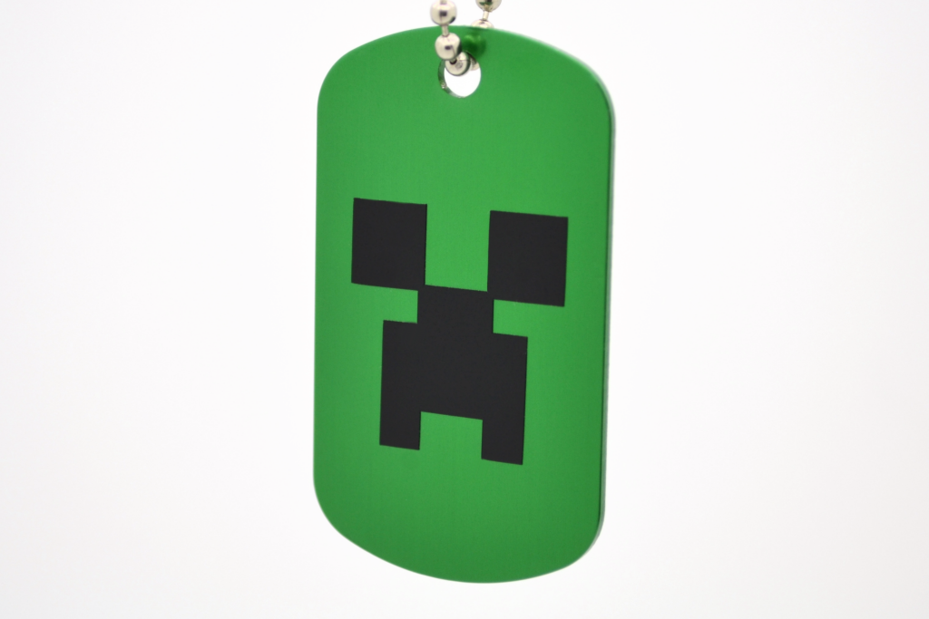 Minecraft Creeper Dog Tag - GamerTags Video Game Necklace
