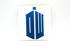 Doctor Who DW Tardis Vinyl Decal - Choose Your Color
