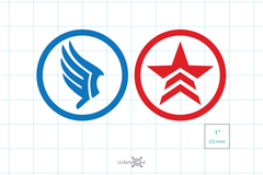 Mass Effect Paragon and Renegade Vinyl Decals