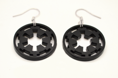Star Wars Galactic Empire Necklace and Earring Set - SWTOR Laser Cut Acrylic Jewelry Set