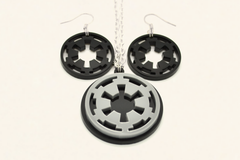 Star Wars Galactic Empire Earrings - SWTOR Laser Cut Acrylic Jewelry
