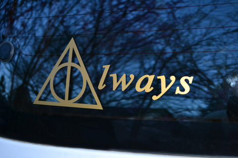 Harry Potter Deathly Hallows Always Vinyl Decal