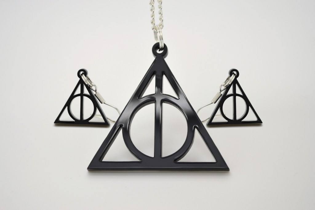 Harry Potter Deathly Hallows Laser Cut Acrylic Necklace