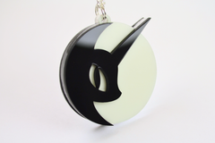 My Little Pony Nightmare Moon Necklace - Glow in the Dark Laser Cut Acrylic